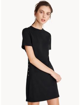 Side Button Up Box Dress by Pomelo