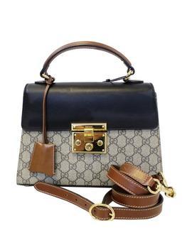 Padlock Small Gg Supreme Monogram Top Handle Crossbody 45318 Shoulder Bag by Gucci