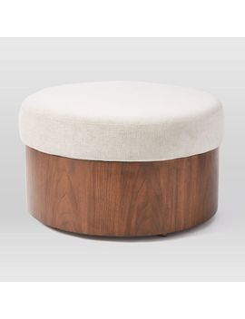 Upholstered Storage Ottoman, Light Taupe by West Elm