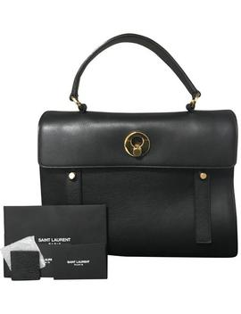 Muse Two Muse Black Leather And Fabric Satchel by Saint Laurent