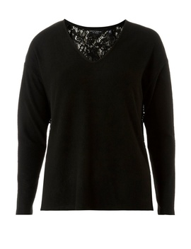 Black Lace Back Top by Dorothy Perkins
