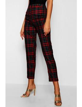 Tall Woven Checked Trouser Tall Woven Checked Trouser by Boohoo