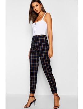 Tall Checked Tapered Trouser Tall Checked Tapered Trouser by Boohoo