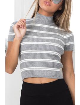 Sexy Stripe Pattern T Shirt by Yoins