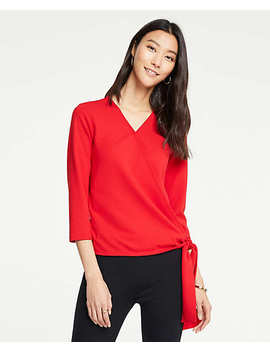 Side Tie Wrap Top by Ann Taylor