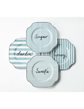 The Emily & Meritt Endearment Salad Plates, Set Of 4 by Pottery Barn