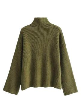 'indy' Ribbed Knit Mock Neck Sweater (4 Colors) by Goodnight Macaroon