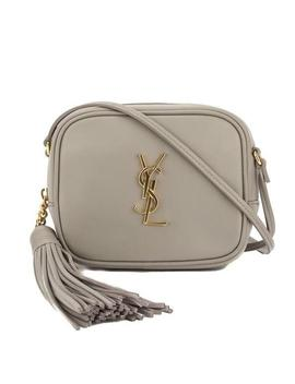 Monogram Blogger Ysl Grey Leather Cross Body Bag by Saint Laurent