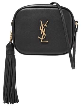 Blogger Monogram Black Leather Cross Body Bag by Saint Laurent