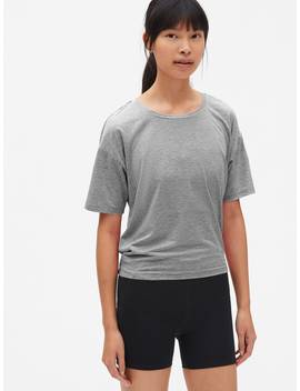 Gap Fit Breathe Short Sleeve Stripe Open Back T Shirt by Gap
