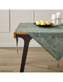 """Marley Green Table Throw 50"""" Square by Crate&Barrel"""