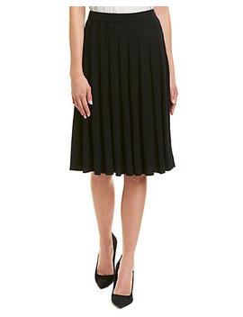 St. John Wool Blend A Line Skirt by St. John