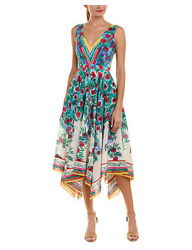 Saloni Silk Midi Dress by Saloni