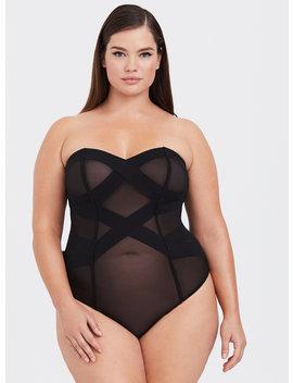 Tara Lynn   Strappy Mesh Bodysuit by Torrid