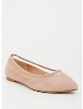 Blush Mesh Pointed Toe Flat (Wide Width) by Torrid