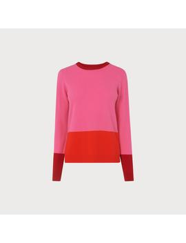 Carina Pink Color Block Sweater by L.K.Bennett