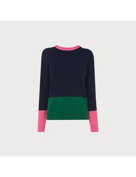 Carina Navy Color Block Sweater by L.K.Bennett