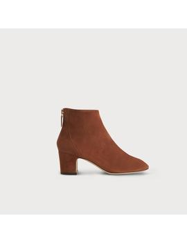 Alyss Chestnut Suede Ankle Boots by L.K.Bennett