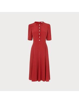 Montana Red Dot Print Dress by L.K.Bennett
