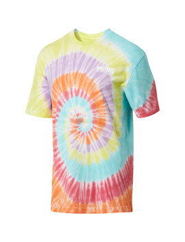 Men's Tie Dye Logo Tower Tee by Puma