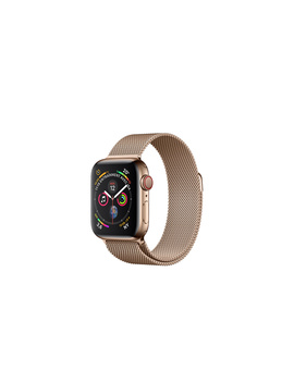 Apple Watch   Boîtier En Acier Inoxydable Or Et Bracelet Milanais Or by Apple