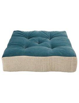 Floor Pillow Tufted Hague Blue by Indigo