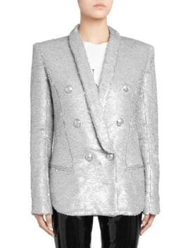 Oversize Sequin Blazer by Balmain