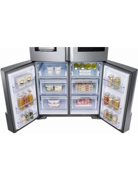 Family Hub 22 Cu. Ft. 4 Door Flex French Door Counter Depth Refrigerator   Fingerprint Resistant Stainless Steel by Samsung