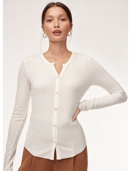 Oceane Longsleeve   Button Down, Ribbed Shirt by Wilfred