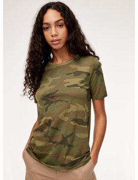 Magee T Shirt   Classic, Camo Crewneck T Shirt by Tna