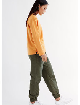 Alix Pant   Cotton Twill Joggers by Tna