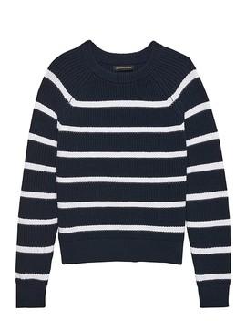 Chunky Ribbed Stripe Sweater by Banana Repbulic