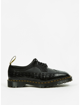 Dr. Martens X Engineered Garments 3989 5 Eye Brogue   Black by Dr Martens