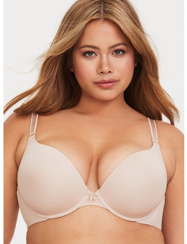Nude Microfiber 360° Back Smoothing™ Push Up Plunge Bra by Torrid
