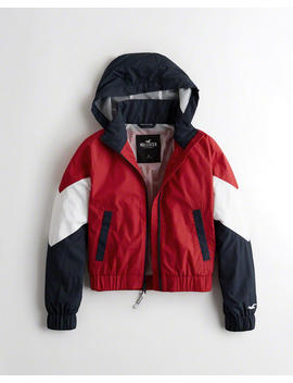 Full Zip Hooded Windbreaker by Hollister