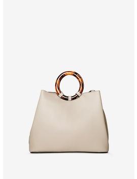 Grey Tort Handle Mini Tote Bag by Dorothy Perkins