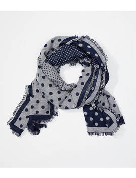 Dotted Cozy Reversible Scarf by Loft