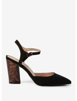 Black 'Eva' High Heel Court Shoes by Dorothy Perkins