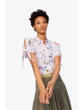 Embroidered Sleeve Shirt by Tory Burch