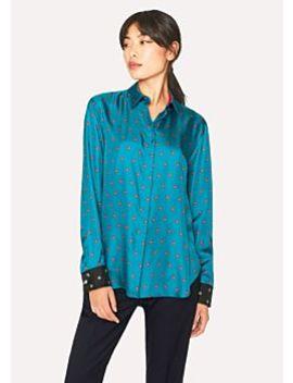 Women's Turquoise 'daisy Polka' Print Shirt by Paul Smith
