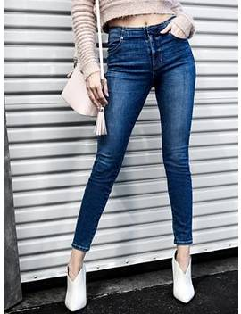 Chevron 1981 High Rise Skinny Jeans by Guess