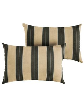 Knife Edge Pillow In Berenson Tuxedo Set Of 2 by Sunbrella® Collection