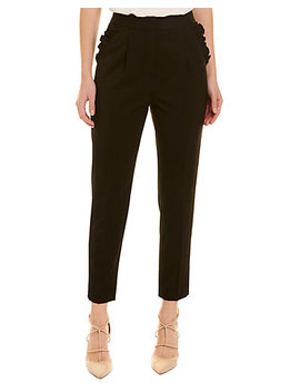 Rebecca Taylor Spring Ruffle Wool Blend Pant by Rebecca Taylor