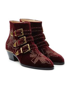 Ankle Boots Susanna Aus Samt Mit Nieten by Chloé