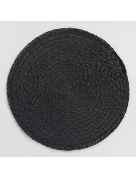Round Black Braided Placemats With Fringe Set Of 4 by World Market
