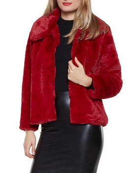 Faux Fur Collared Jacket by Rainbow