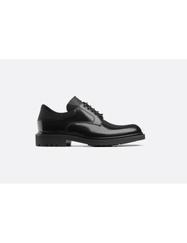 Derby Shoe In Black Brushed Calfskin And Technical Canvas by Dior