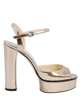 Peachy Platform Sandals by Jimmy Choo