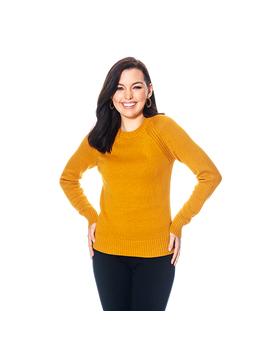 Jeanne Pierre Solid Long Raglan Sleeve Sweater by Boscov's