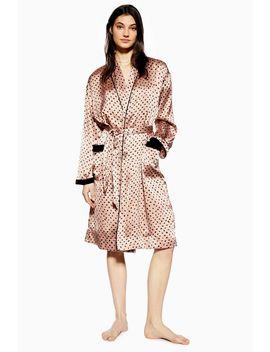 Animal Velvet Robe by Topshop